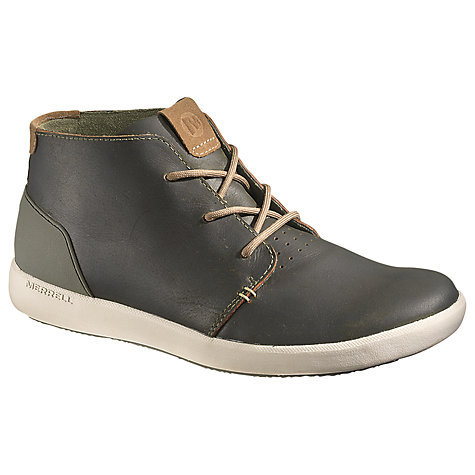 Buy Merrell Freewheel Leather Chukka Boots, Dark Olive Online at johnlewis.com