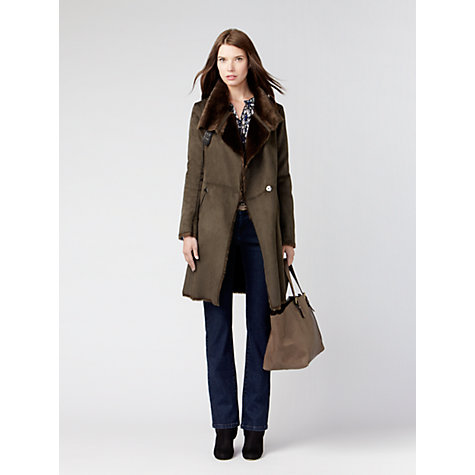 Buy Gérard Darel Faux Fur Jacket, Green Online at johnlewis.com