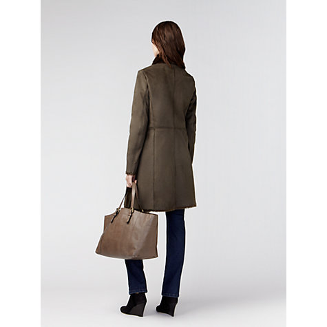 Buy Gérard Darel Fur Jacket, Green Online at johnlewis.com