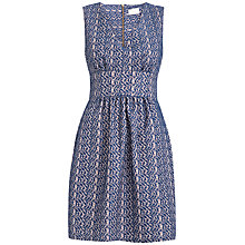 Buy Almari Lace Pleat Dress, Navy Online at johnlewis.com