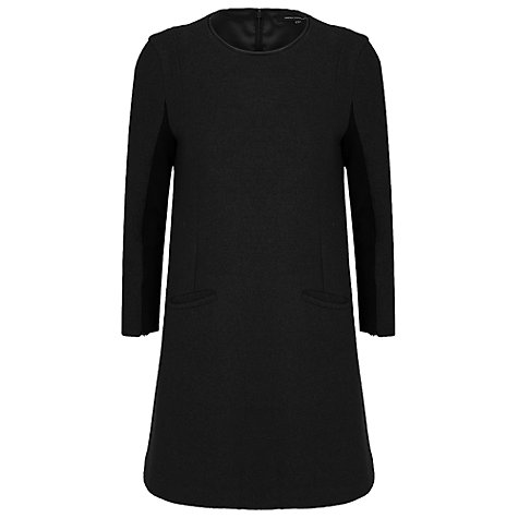 Buy French Connection Winter Walk Dress, Black Online at johnlewis.com