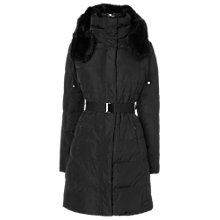 Buy Phase Eight Freya Quilted Coat, Black Online at johnlewis.com