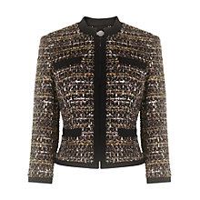 Buy Phase Eight Annaliese Tweed Jacket, Brown Online at johnlewis.com