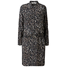 Buy Gérard Darel Leopard Print Silk Dress, Green Online at johnlewis.com