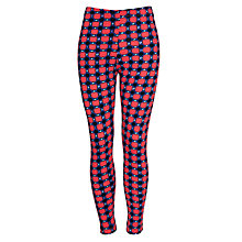 Buy Kin by John Lewis Girls' Geometric Print Leggings, Blue/Red Online at johnlewis.com