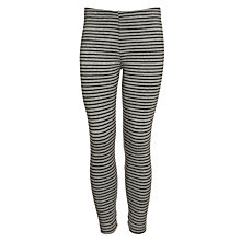 Buy Kin by John Lewis Girls' Striped Leggings, Grey Online at johnlewis.com