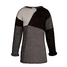 Buy Kin by John Lewis Girls' Intarsia Knitted Dress, Grey Online at johnlewis.com