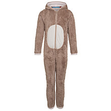 Buy John Lewis Hooded Hare Onesie, Brown Online at johnlewis.com