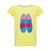 Buy John Lewis Girl Shoes Graphic Tee, Yellow Online at johnlewis.com