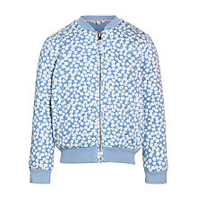 Buy John Lewis Girl Floral Quilted Bomber Jacket, Blue Online at johnlewis.com