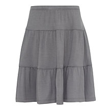 Buy John Lewis Girl Jersey Tiered Skirt, Grey Online at johnlewis.com