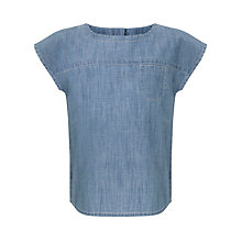 Buy Kin by John Lewis Girls' Chambray Top, Blue Online at johnlewis.com