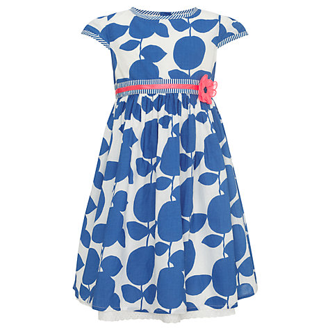 Buy John Lewis Girl Abstract Floral Dress, Light Cobalt Online at johnlewis.com