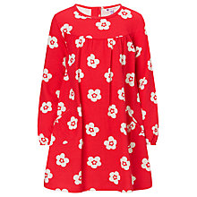 Buy John Lewis Girl Floral Jersey Dress, Red/White Online at johnlewis.com