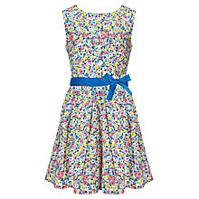 Buy John Lewis Girl Ditsy Woven Dress, Yellow Online at johnlewis.com