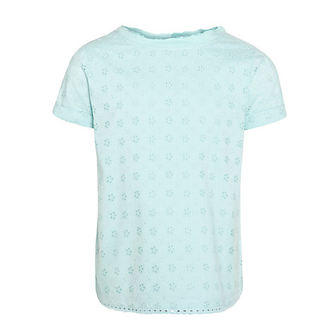 Buy John Lewis Girl Broderie T-Shirt Online at johnlewis.com