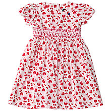 Buy Question Everything Girls' Berry Print Hand Smocked Dress, Red Online at johnlewis.com