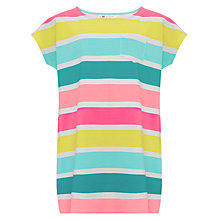 Buy John Lewis Girl Multistripe Jersey Dress, Multi Online at johnlewis.com