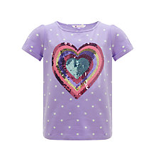 Buy John Lewis Girl Heart Graphic Top, Violet Tulip Online at johnlewis.com