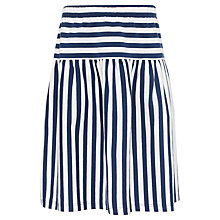 Buy John Lewis Girl Jersey Stripe Skirt, Blue/White Online at johnlewis.com