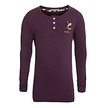 Buy Barbour Girls' Groveland Long Sleeve Top, Blackberry Online at johnlewis.com