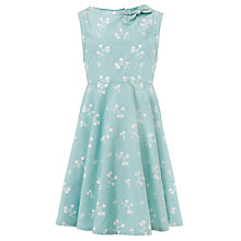 Buy John Lewis Girl Ditsy Floral Print Dress, Pale Blue Online at johnlewis.com