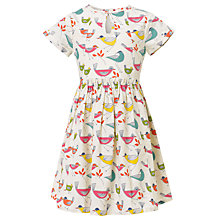 Buy John Lewis Girl Bird Print Dress, Cream/Multi Online at johnlewis.com