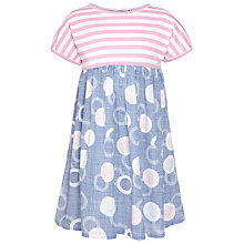 Buy Kin by John Lewis Girls' Floating Egg Print Dress, Blue Online at johnlewis.com