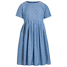 Buy Loved & Found Girl Dotty Chambray Dress, Blue Online at johnlewis.com