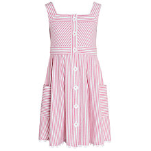 Buy John Lewis Girl Two-Way Stripe Dress, Pink Online at johnlewis.com