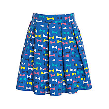 Buy John Lewis Girl Bow Print Skirt, Blue Online at johnlewis.com