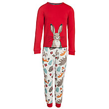 Buy John Lewis The Bear & The Hare Pyjamas, Red Online at johnlewis.com