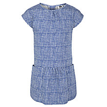 Buy Kin by John Lewis Girls' Drop Waist Check Dress, Blue Online at johnlewis.com