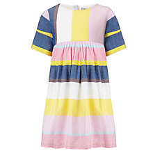 Buy Kin by John Lewis Girls' Horizontal Stripe Dress, Multi Online at johnlewis.com