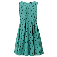 Buy John Lewis Girl Polka Dot Skater Dress, Green Online at johnlewis.com