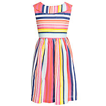 Buy John Lewis Girl Stripe Cotton Dress, Multi Online at johnlewis.com