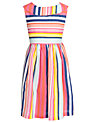 John Lewis Girl Stripe Cotton Dress, Multi