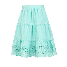 Buy John Lewis Girl Broderie Skirt, Aqua Online at johnlewis.com