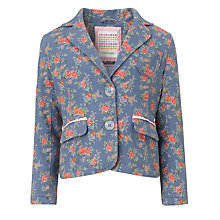 Buy John Lewis Girl Ditsy Floral Print Blazer, Blue Online at johnlewis.com