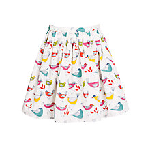 Buy John Lewis Girl Bird Print Skirt, Multi Online at johnlewis.com