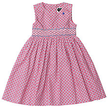 Buy Question Everything Girls' Floral Print Hand Smocked Dress, Pink Online at johnlewis.com