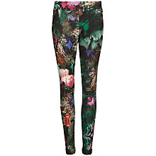 Buy Ted Baker Olivie Printed Leggings, Dark Green Online at johnlewis.com