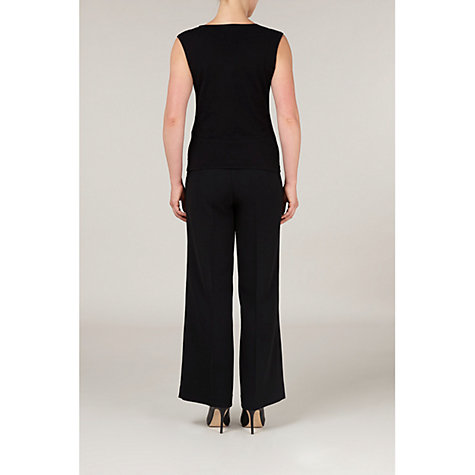 Buy Precis Petite Beaded Underpiece Top, Black Online at johnlewis.com