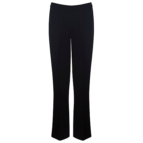 Buy Precis Petite Textured Trousers, Black Online at johnlewis.com