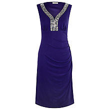 Buy Precis Petite Embellished Shift Dress, Purple Online at johnlewis.com