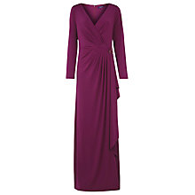 Buy Alexon Brooch Maxi Dress, Purple Online at johnlewis.com