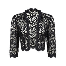 Buy Alexon Lace Jacket, Black Online at johnlewis.com