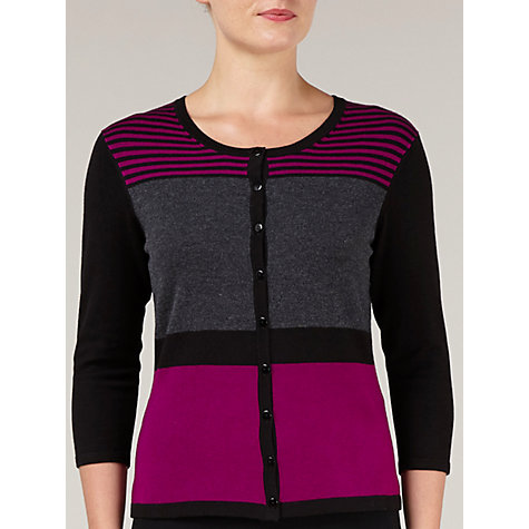 Buy Precis Petite Colourblock Cardigan, Multi Online at johnlewis.com