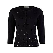 Buy Precis Petite Beaded Cardigan, Black Online at johnlewis.com