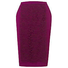 Buy Kaliko Scalloped Lace Panel Skirt, Pink Online at johnlewis.com